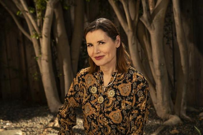 PACIFIC PALISADES, CA -JULY 27, 2020: Actress Geena Davis is photographed at her home in Pacific Palisades. Davis is helming the 6th annual Bentonville Film Festival and bringing more inclusive voices to Hollywood. (Mel Melcon / Los Angeles Times)