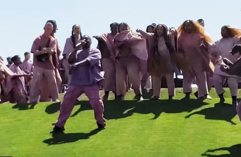 Kanye West performs his Sunday Service at Coachella 2019 on Easter morning. (Photo: YouTube)