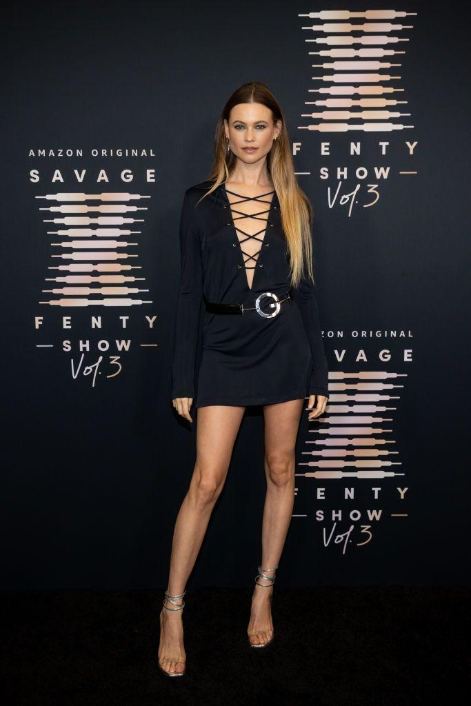 <p><strong>22 September</strong></p><p>Behati Prinsloo wore a vintage Gucci by Tom Ford mini dress.</p>