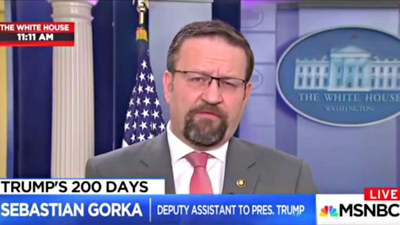 Controversial Trump White House adviser Sebastian Gorka out at White House