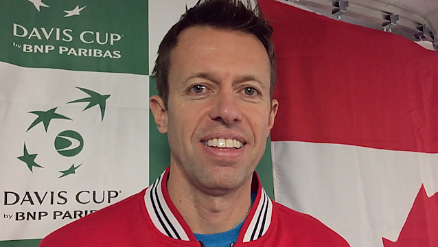 <em>Daniel Nestor was just a kid the last time the Davis Cup came to Ottawa; 23 years later, he's still a kid at heart and still playing great tennis. (Stephanie Myles/opencourt.ca)</em>