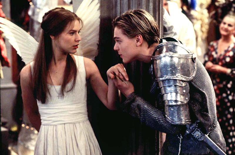 "The stars of the new film adaptation of William Shakespeare's ""Romeo and Juliet"", Leonardo DiCaprio and Claire Danes are shown in a scene from the film. The film is set for release in November."