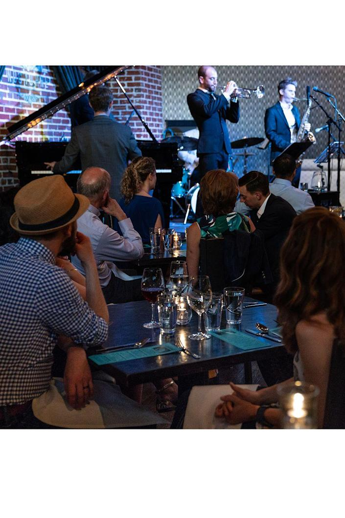 """<p><strong>Denver, Colorado</strong></p><p>Live music fans, rejoice! This Colorado hot spot offers live jazz from Tuesday through Saturday until 10:30 p.m. and late night sets on Friday and Saturday. People love the atmosphere at <strong><a href=""""http://www.nocturnejazz.com/"""" rel=""""nofollow noopener"""" target=""""_blank"""" data-ylk=""""slk:Nocturne"""" class=""""link rapid-noclick-resp"""">Nocturne</a></strong>, and say the food and service is just as amazing. </p><p><strong>RELATED: </strong><a href=""""https://www.goodhousekeeping.com/life/entertainment/g23120214/best-love-songs/"""" rel=""""nofollow noopener"""" target=""""_blank"""" data-ylk=""""slk:The 57 Best Love Songs of All-Time for the Most Romantic Playlist Ever"""" class=""""link rapid-noclick-resp"""">The 57 Best Love Songs of All-Time for the Most Romantic Playlist Ever</a></p>"""