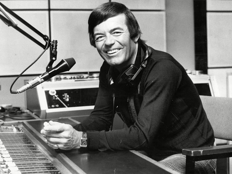 DJ Tony Blackburn in the studio at Radio London in 1981 (Rex)