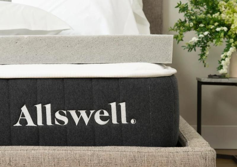 "One of the easiest things to do to make your bed an even more sacred space is getting a mattress topper. This memory foam mattress topper from Allswell that's infused with graphite, which takes away excess heat from the body. And it's well reviewed: a 4.6-star rating across almost 400 reviews. <strong><a href=""https://fave.co/2q896SC"" target=""_blank"" rel=""noopener noreferrer"">Get it for 20% off at Allswell for Cyber Monday</a></strong>.&nbsp;"