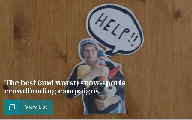 The best and worst snow-sports crowdfunding