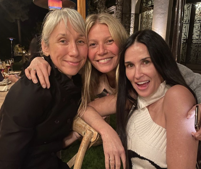 The guest list for Gwyneth Paltrow's makeup-free bash included artist Alexandra Grant and actress Demi Moore. (Photo: Instagram)