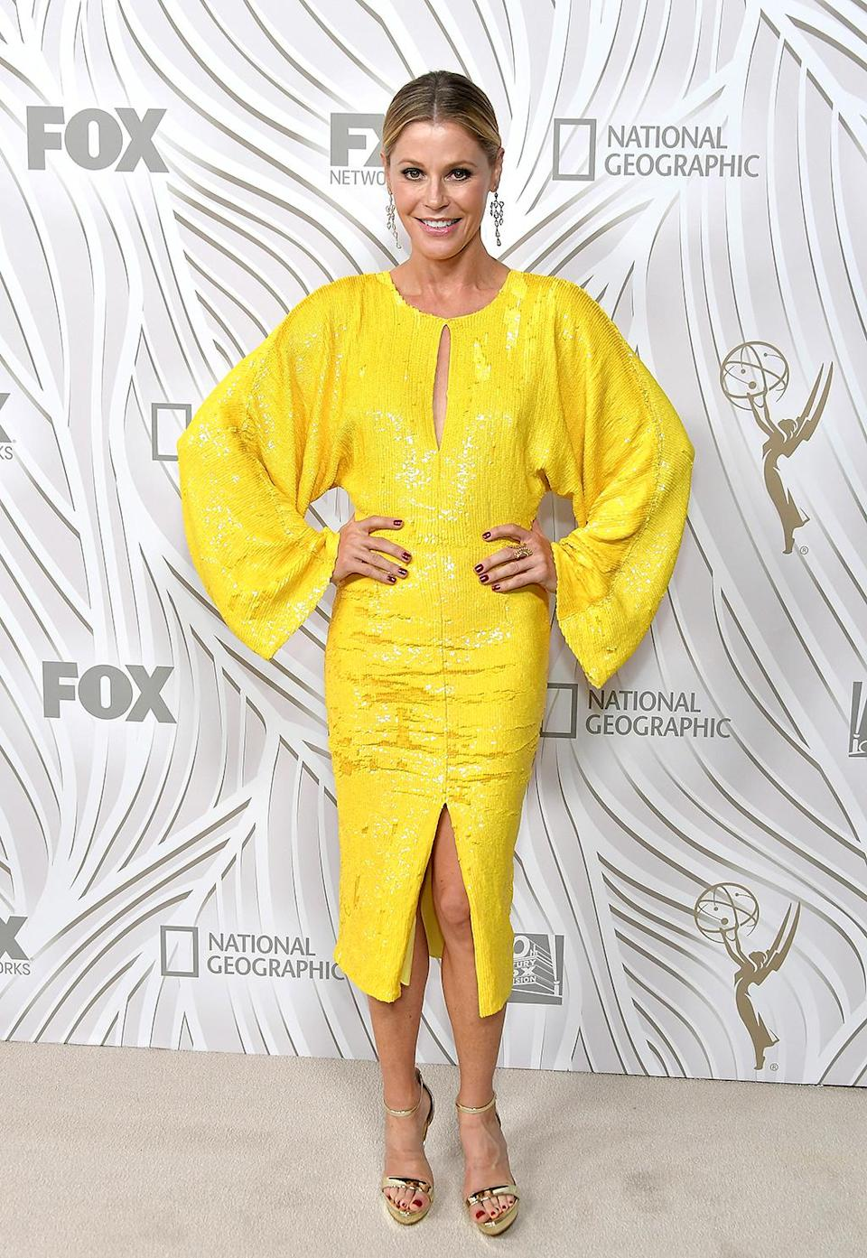 <p>Julie Bowen at the after-party for the Fox Broadcasting Co., Twentieth Century Fox Television, FX, and <em>National Geographic</em> at Vibiana. (Photo: Neilson Barnard/Getty Images) </p>