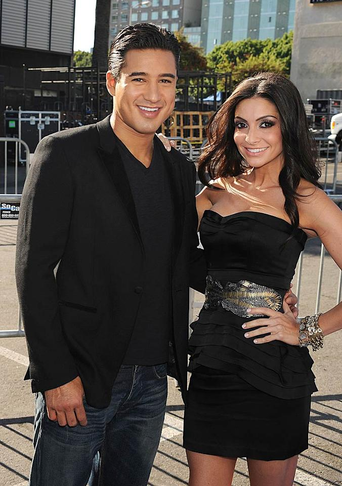 """Mario Lopez and girlfriend Courtney Mazza showed up in coordinating black outfits. The couple -- who starred in their own VH1 reality show about the impending birth of their first baby -- are now parents to Gia, who turns 1 next month. Jeffrey Mayer/<a href=""""http://www.wireimage.com"""" target=""""new"""">WireImage.com</a> - August 14, 2011"""