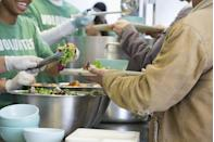 <p>If you're looking for a way to give back, why not volunteer to cook or serve a holiday meal at your local soup kitchen. (Bonus: Doing so as a family is a great way to teach kids that Christmas is about so much more than presents!)</p>