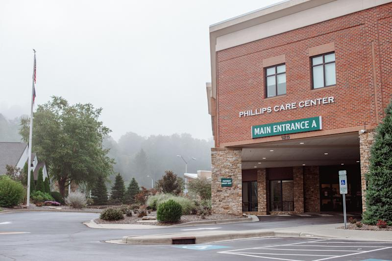 Blue Ridge Regional Hospital in Spruce Pine will no longer offer labor-and-delivery services. (Mike Belleme for HuffPost)