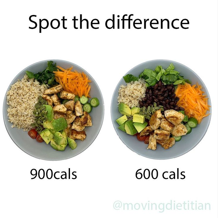 movingdietician spot the difference chicken salad
