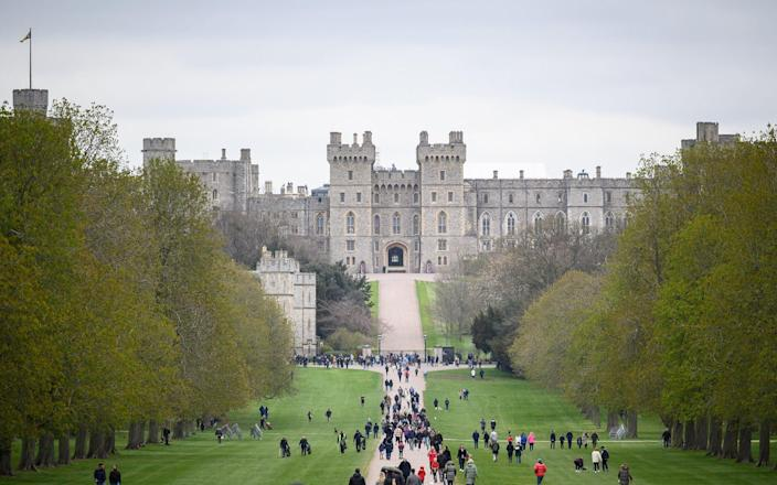 A general view of Windsor Castle as people gather to lay tributes - Leon Neal/Getty Images Europe