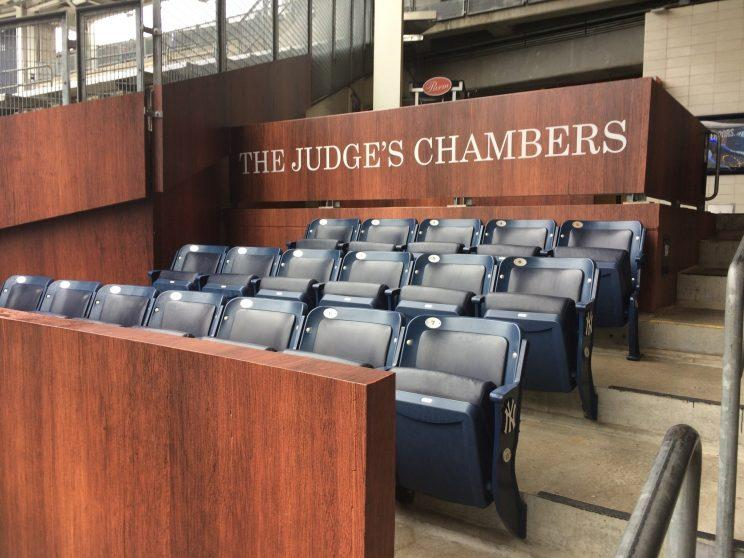 Yankees fans can show their appreciation for Aaron Judge by sitting in this special area. (AP Photo)