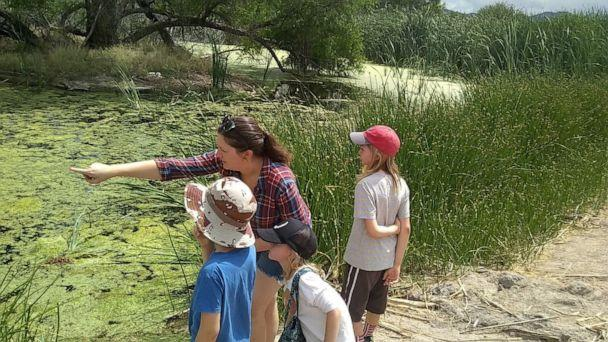 PHOTO: In a photo dated May 2020, Heather Mace, an educator from Tucson, Arizona, is seen with her three children during a trip to the Sweetwater Wetlands in Tuscon. (Heather Mace)