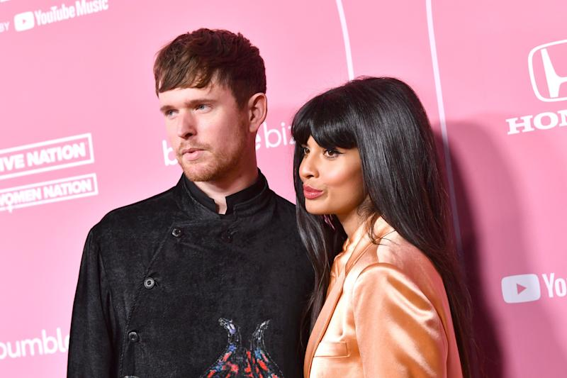 James Blake and Jameela Jamil  (Photo: Emma McIntyre via Getty Images)