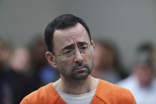 Dr. Larry Nassar was convicted of molesting girls while working for USA Gymnastics and Michigan State University. (AP)