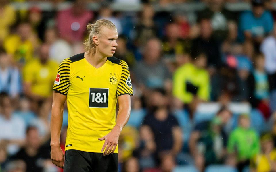 Erling Haaland in action during the Preseason Friendly match between Borussia Dortmund and FC Bologna on July 30, 2021 - Getty Images