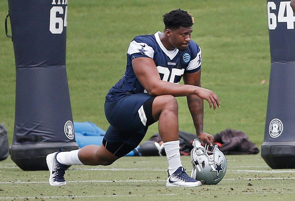 Former Dallas Cowboys defensive tackle David Irving (95) had some pointed comments about Jason Garrett. (AP)