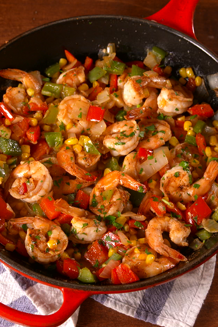 """<p>Take a trip to the South in the comfort of your own kitchen.</p><p>Get the recipe from <a href=""""/cooking/recipe-ideas/recipes/a51607/cajun-shrimp-recipe/"""" data-ylk=""""slk:Delish"""" class=""""link rapid-noclick-resp"""">Delish</a>.</p>"""