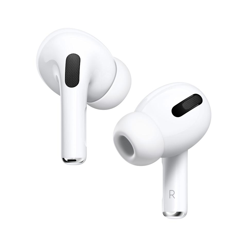 """<p><strong>Apple</strong></p><p>walmart.com</p><p><a href=""""https://go.redirectingat.com?id=74968X1596630&url=https%3A%2F%2Fwww.walmart.com%2Fip%2F520468661&sref=https%3A%2F%2Fwww.womansday.com%2Flife%2Fwork-money%2Fg36787119%2Fwalmart-amazon-prime-day-big-save-deals-2021%2F"""" rel=""""nofollow noopener"""" target=""""_blank"""" data-ylk=""""slk:Shop Now"""" class=""""link rapid-noclick-resp"""">Shop Now</a></p><p><strong><del>$219</del> $197 (10% off)</strong></p><p>For a pair you can use anytime, anywhere, spring for Apple's AirPods Pro. This covetable style has active noise-cancellation and adaptive EQ, which will automatically tune the music to the shape of your ear.</p>"""
