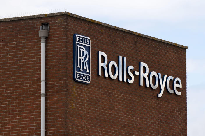 A close-up of the Rolls-Royce factory sign in Filton on July 02, 2020 in Bristol, United Kingdom. Photo: Matthew Horwood/Getty Images