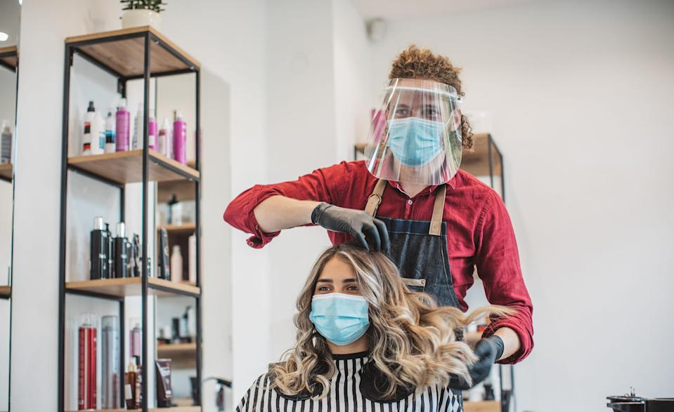 Hair cutting during pandemic (Getty Images stock)