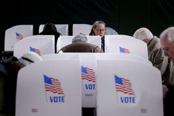 PHOTO: People cast their ballots at a community center during early voting Oct. 25, 2018 in Potomac, Md. (Brendan Smialowski/AFP/Getty Images, FILE)