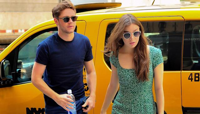 Niall Horan and Hailee Steinfeld spotted out shopping at Saks Fifth Avenue in New York. (Photo: MEGA)