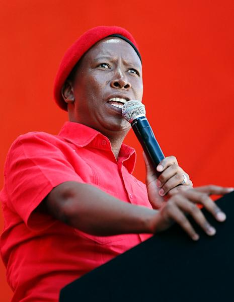 Julius Malema founded the Economic Freedom Fighters (EFF) after being kicked out of the ANC (AFP Photo/Phill Magakoe)