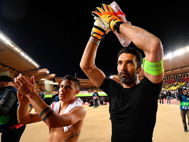 Gianluigi Buffon made several saves to keep Monaco's attacking talents out (Getty)