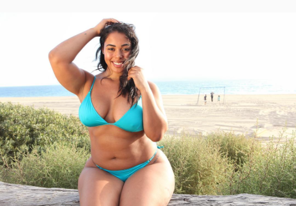 22710d878b8 Plus size model Tabria Majors can rock the heck out of a swimsuit