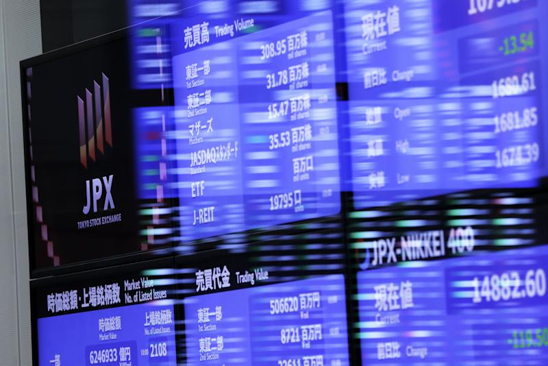 Asia stocks fall sharply after Wall Street losses