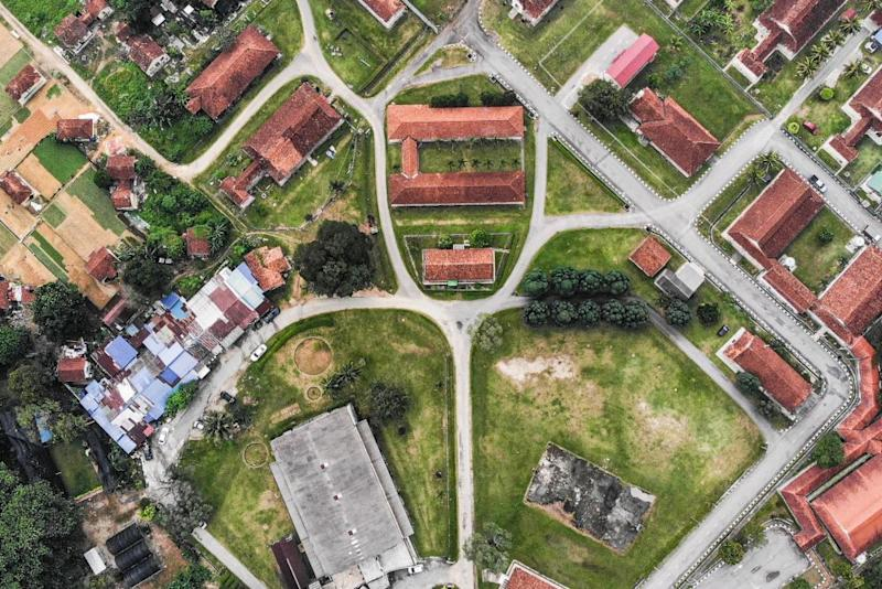 A view of the Sungai Buloh settlement where leprosy patients were once segregated and isolated from the outside world. — Picture by Hari Anggara