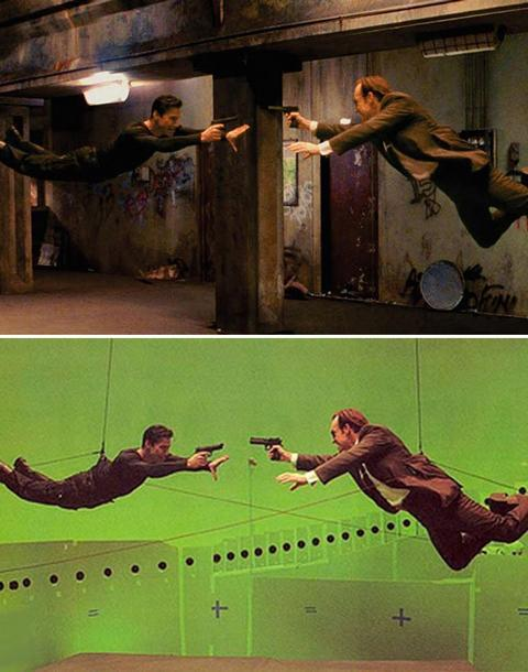 <b>The Matrix</b> Visual effects supervisor John Gaeta won an Oscar for creating 'The Matrix's' pioneering action sequences. 'Bullet Time', now a registered trademark, was achieved by surrounding the actors with a ring of still-cameras, each timed to shoot a single frame in quick succession.