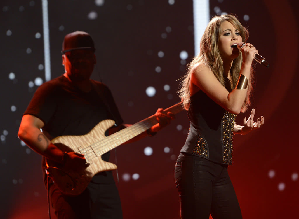 "Angie Miller performs ""Try"" on the Wednesday, May 8 episode of ""American Idol."""