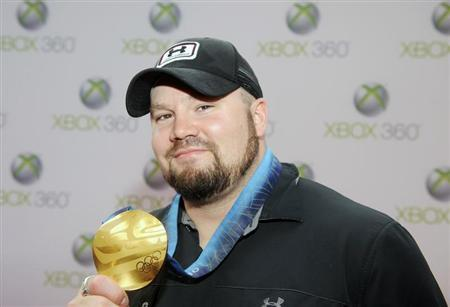"""Olympic Gold Medalist Steve Holcomb attends the premiere of """"Project Natal for XBox 360"""" in Los Angeles"""