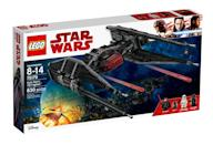 """<p>""""The Resistance has been spotted! Put Kylo into the cockpit of his super-fast TIE Fighter and blast off in hot pursuit. When you get close, push the triggers to fire the spring-loaded missiles and send those Resistance ships spinning out of control!"""" $79.99 (Lego) </p>"""