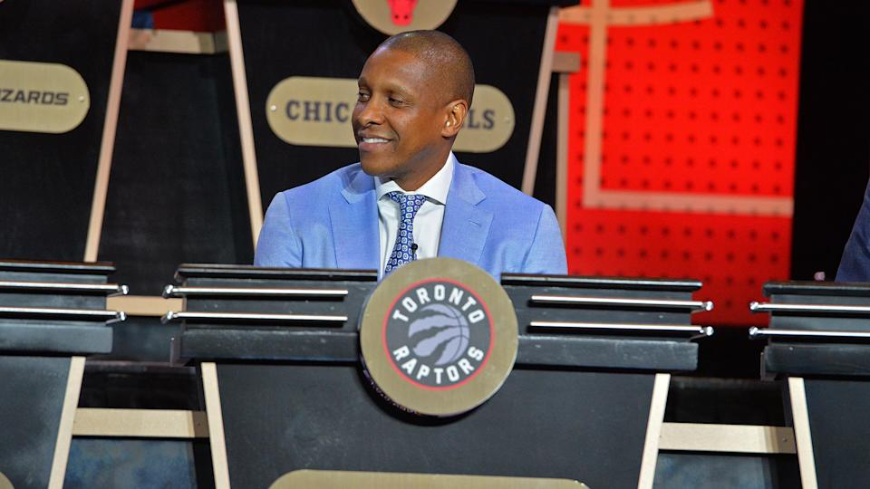 What does Toronto Raptors' Masai Ujiri have up his sleeve for the 2020 NBA draft? (Photo by Jesse D. Garrabrant/NBAE via Getty Images)