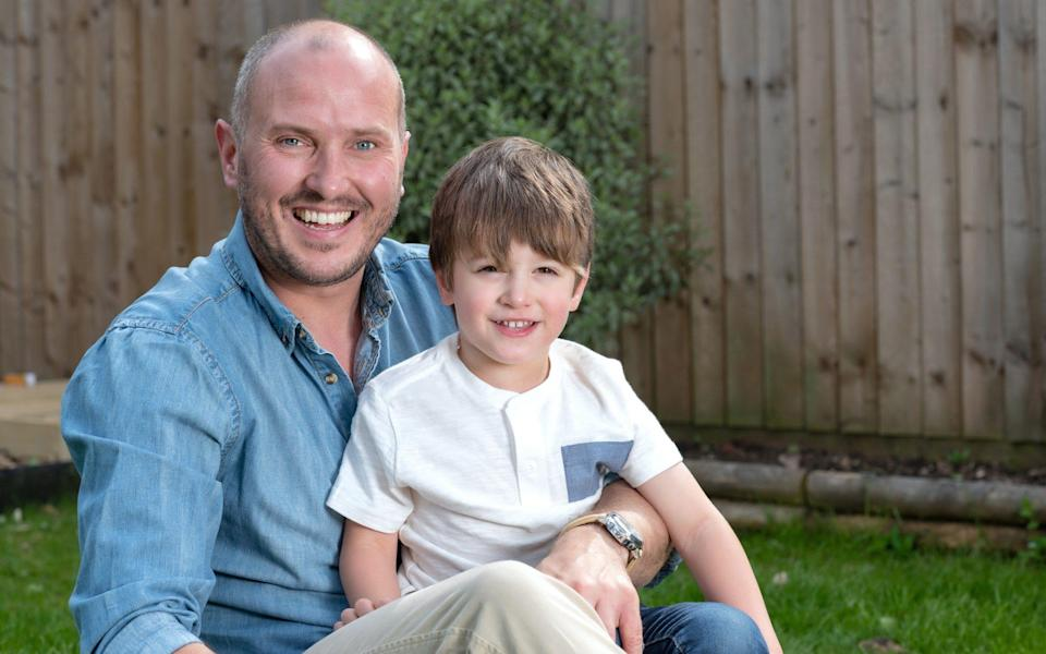 Steve Bland with his son, Freddie - Paul Cooper/The Telegraph