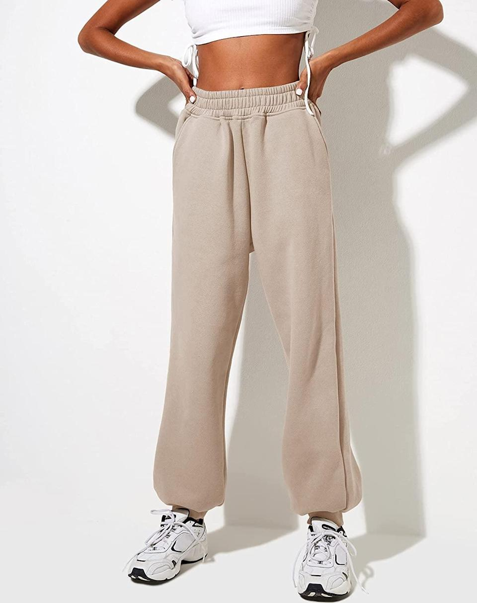 <p>There's nothing like wearing a pair of joggers during the colder months for utlimate comfort and style. The <span> Yovela Women's Cinch Bottom Sweatpants</span> ($25) are high-waisted and oversized for a stylish athlesuire look. It comes in a variety of colors as well.</p>