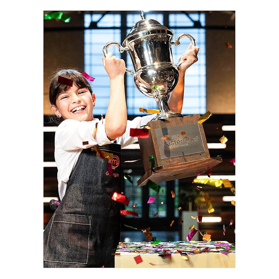 Judge Melissa Leong has shared a touching message following 11-year-old Georgia's Junior MasterChef win. Photo: Channel 10.