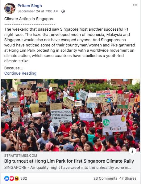 MP Pritam Singh's Facebook page