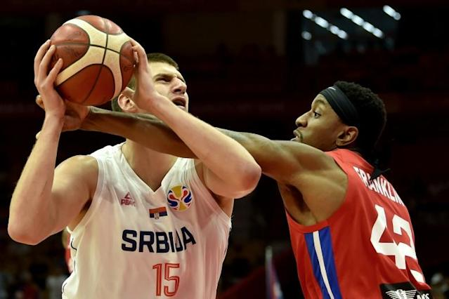 Nikola Jokic had 14 points and 10 rebounds as Serbia crushed Puerto Rico 90-47 (AFP Photo/HECTOR RETAMAL )