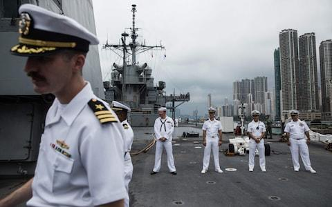 China said on December 2, 2019 it had suspended rest and recuperation visits by US warships in Hong Kong in response to a US bill supporting pro-democracy protesters - Credit: AFP