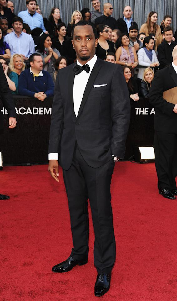 Actor Sean Combs arrives at the 84th Annual Academy Awards held at the Hollywood & Highland Center on February 26, 2012 in Hollywood, California.