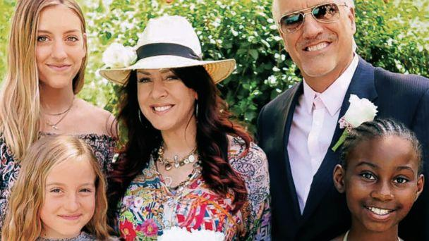 PHOTO: Joely Fisher poses with her daughters and husband, Christopher Duddy, in this undated family photo. (Courtesy Joely Fisher)