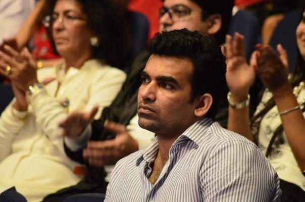 Mumbai:  Indian cricketer Zaheer Khan during the Dr Batra's 9th Positive Health awards 2014, Mumbai on Nov 13, 2014. (Photo: IANS)