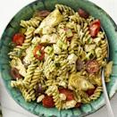 "<p>There's no need to make the pesto in this salad (unless you'd like to, of course!). Store-bought works just fine.</p><p><strong><a href=""https://www.thepioneerwoman.com/food-cooking/recipes/a32688852/greek-pesto-pasta-salad-recipe/"" rel=""nofollow noopener"" target=""_blank"" data-ylk=""slk:Get the recipe"" class=""link rapid-noclick-resp"">Get the recipe</a>.</strong></p><p><strong><a class=""link rapid-noclick-resp"" href=""https://go.redirectingat.com?id=74968X1596630&url=https%3A%2F%2Fwww.walmart.com%2Fbrowse%2Fhome%2Fserveware%2Fthe-pioneer-woman%2F4044_623679_639999_2347672&sref=https%3A%2F%2Fwww.thepioneerwoman.com%2Ffood-cooking%2Fmeals-menus%2Fg35589850%2Fmothers-day-dinner-ideas%2F"" rel=""nofollow noopener"" target=""_blank"" data-ylk=""slk:SHOP SERVEWARE"">SHOP SERVEWARE</a></strong></p>"