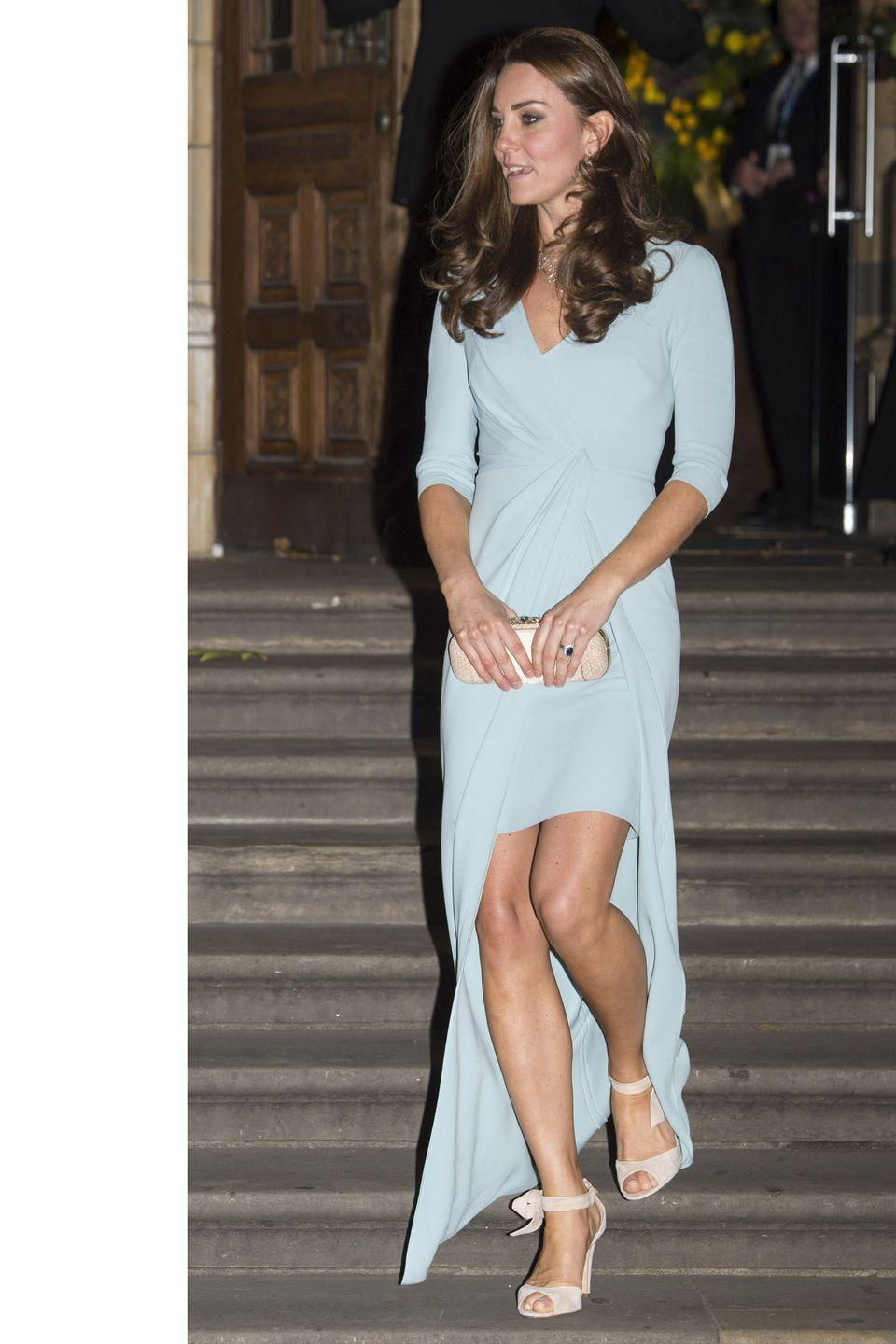 <p>Glowing in Jenny Packham at the Wildlife Photographer of The Year 2014 Awards Ceremony at The Natural History Museum in London</p>